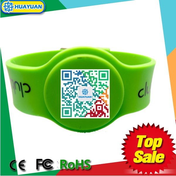 Unique QR code printing Ntag213 NFC silicone wristband
