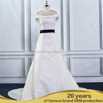 Al16106 Plus Size Wedding Dress Off-shoulder Bride Satin Mermaid ...