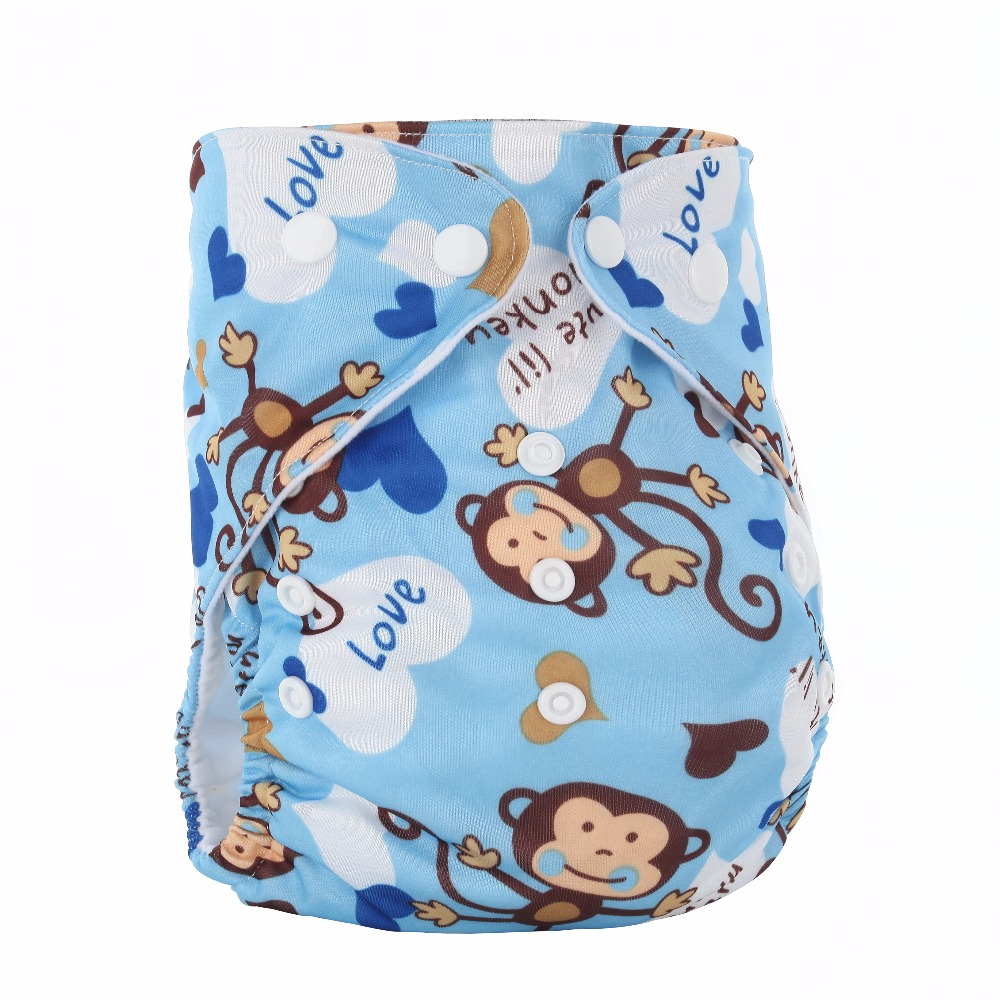 Best infant diapers Single row PUL printed cloth diaper waterproof washable breathable ecologic China factory prices, Colorful printed