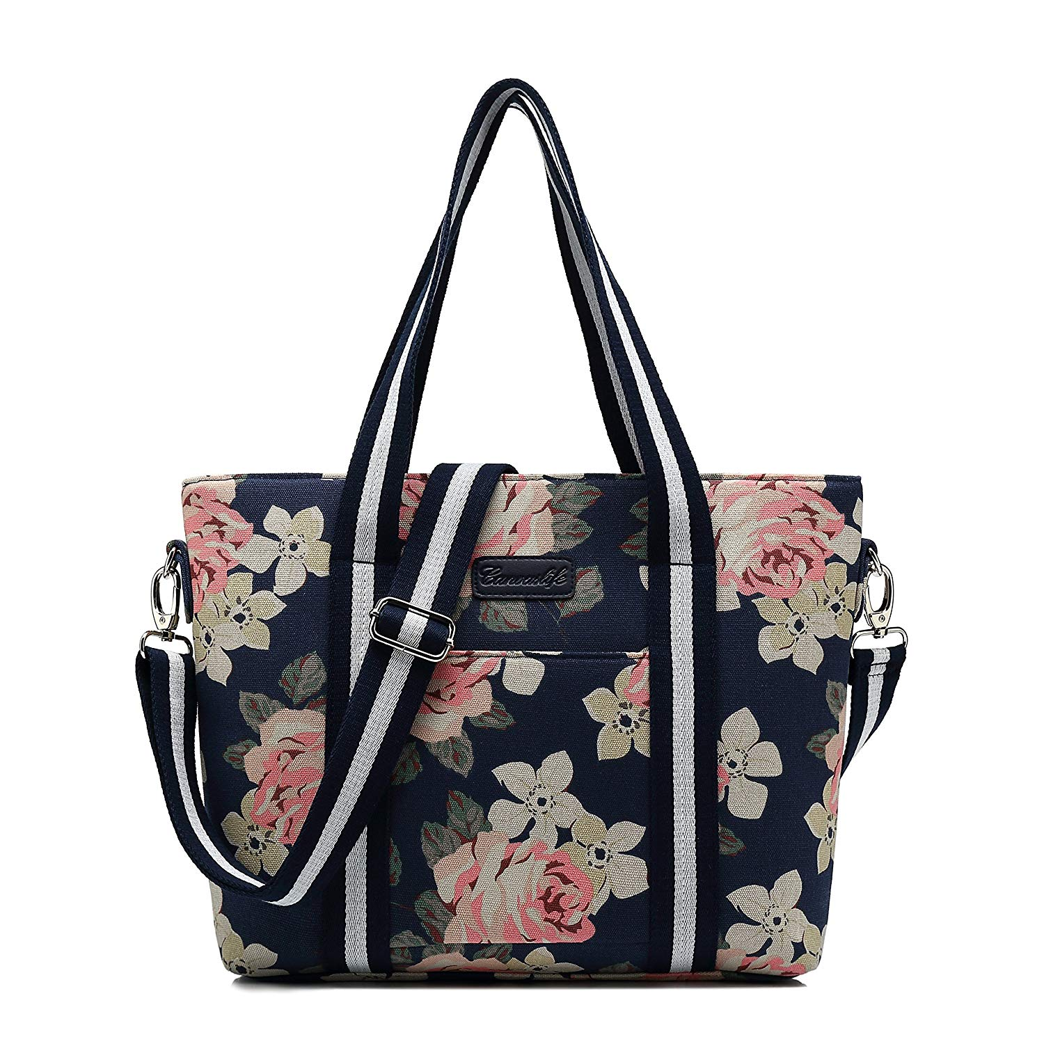 ce9b1f4ad932 Buy Canvaslife White Rose Pattern 13 inch Canvas laptop sleeve with ...