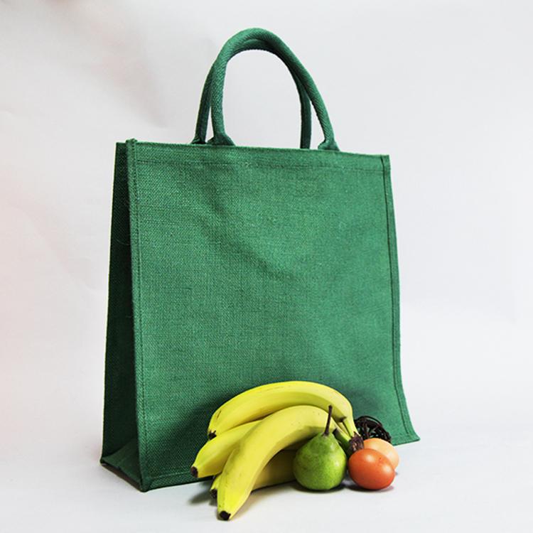 Promotion Écologique grand shopping en vrac sacs de jute imprimés personnalisés