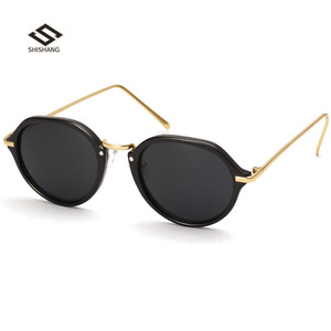 Retro Design Fashion Eyewear Hot Sale Metal Women Polarized Sunglasses