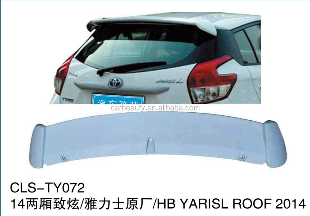 TY072 ABS auto rear roof spoiler for TOYOTA YARIS L 2014