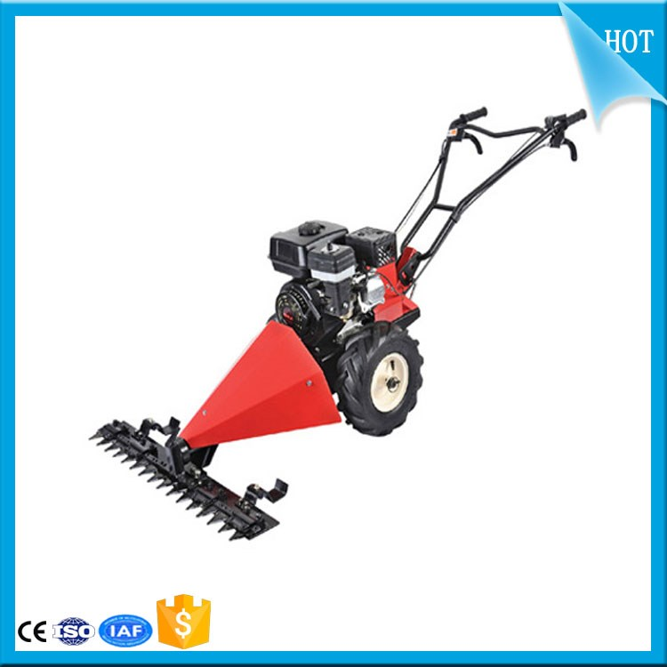 Long handle self propelled lawn scythe mower body