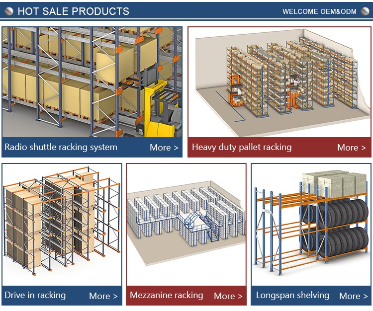 Free design 3D rack drawing warehouse racking and shelving system