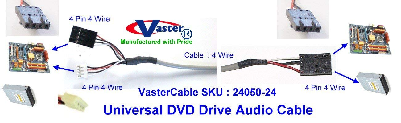 SuperEcable - 24050 - 3 Pcs / Pack - CD-Rom / DVD / CD-Writer / DVD-Writer(2 DVD Drive to Any Sound-Card) Audio Cable