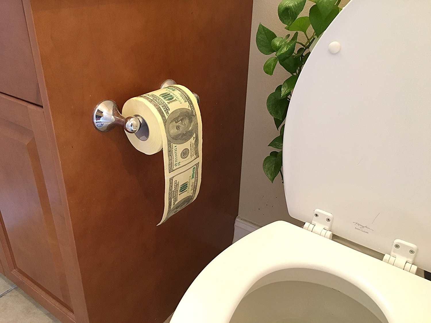 Buy SummitLink 1 Roll $100 Hundred US Dollar Bill Toilet Paper ...