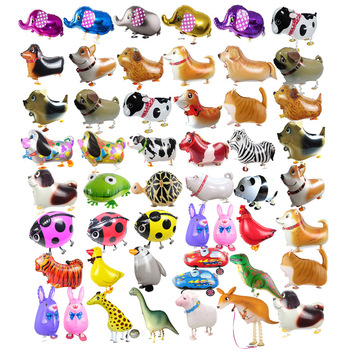 stand walking animals shape pet balloons children's classic toys Hybrid models of animal helium foil balloon
