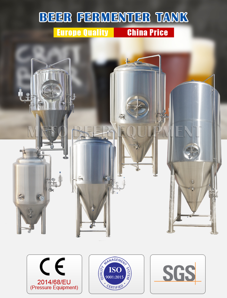 100L to 10000L stainless steel beer fermenter tanks industrial fermentation equipment system for sale