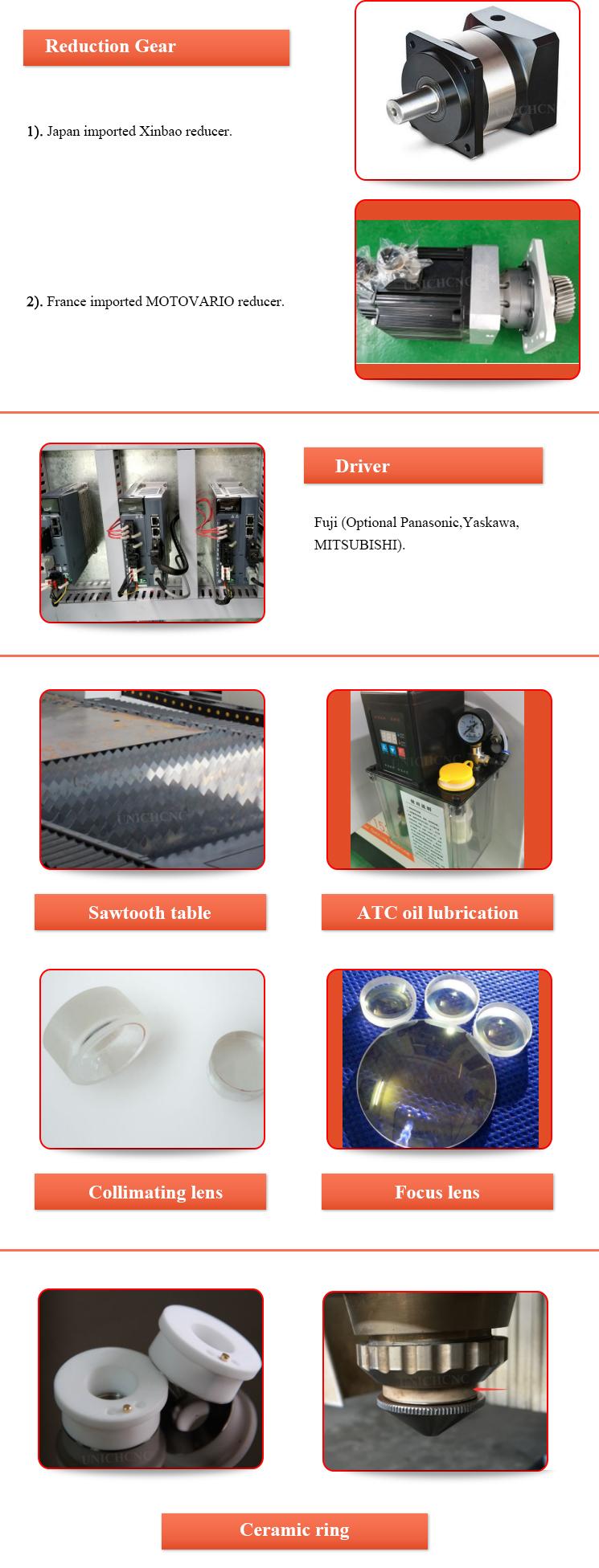 500w 750w 1kw 2kw 3kw Fiber Laser Cutting Machine With Japan
