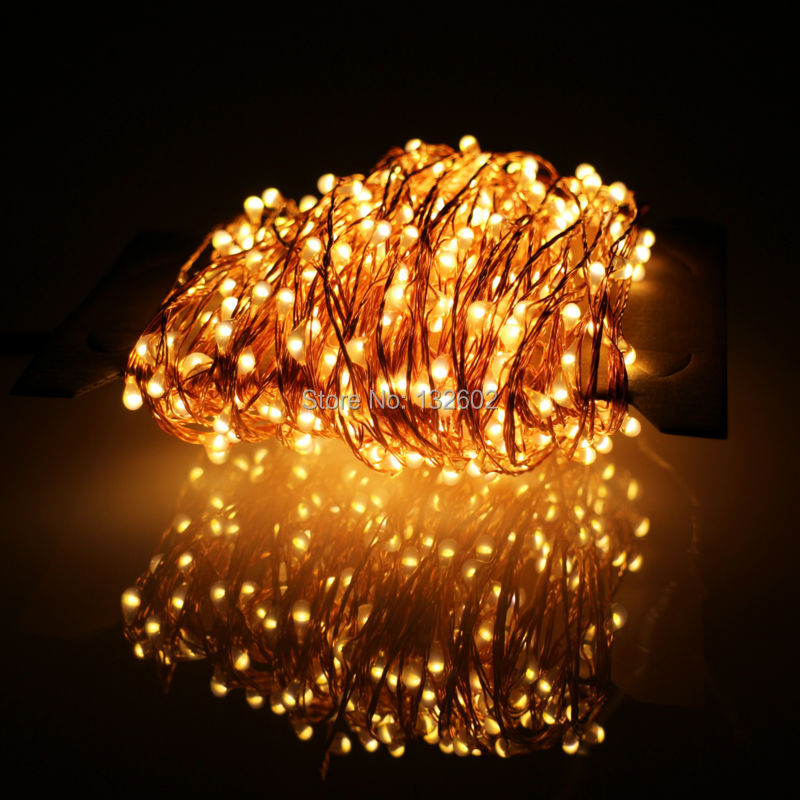 buy online abcb2 fbb01 24m 480 LED Outdoor LED String Lights Warm White Copper Wire Christmas  Starry Fairy Lights+Power Adapter(EU/US/UK/AU Plug)