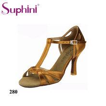 896d2270c Suphini Glitter Ouro e Cetim T-Correia Das Senhoras Sapatos para <span  class=