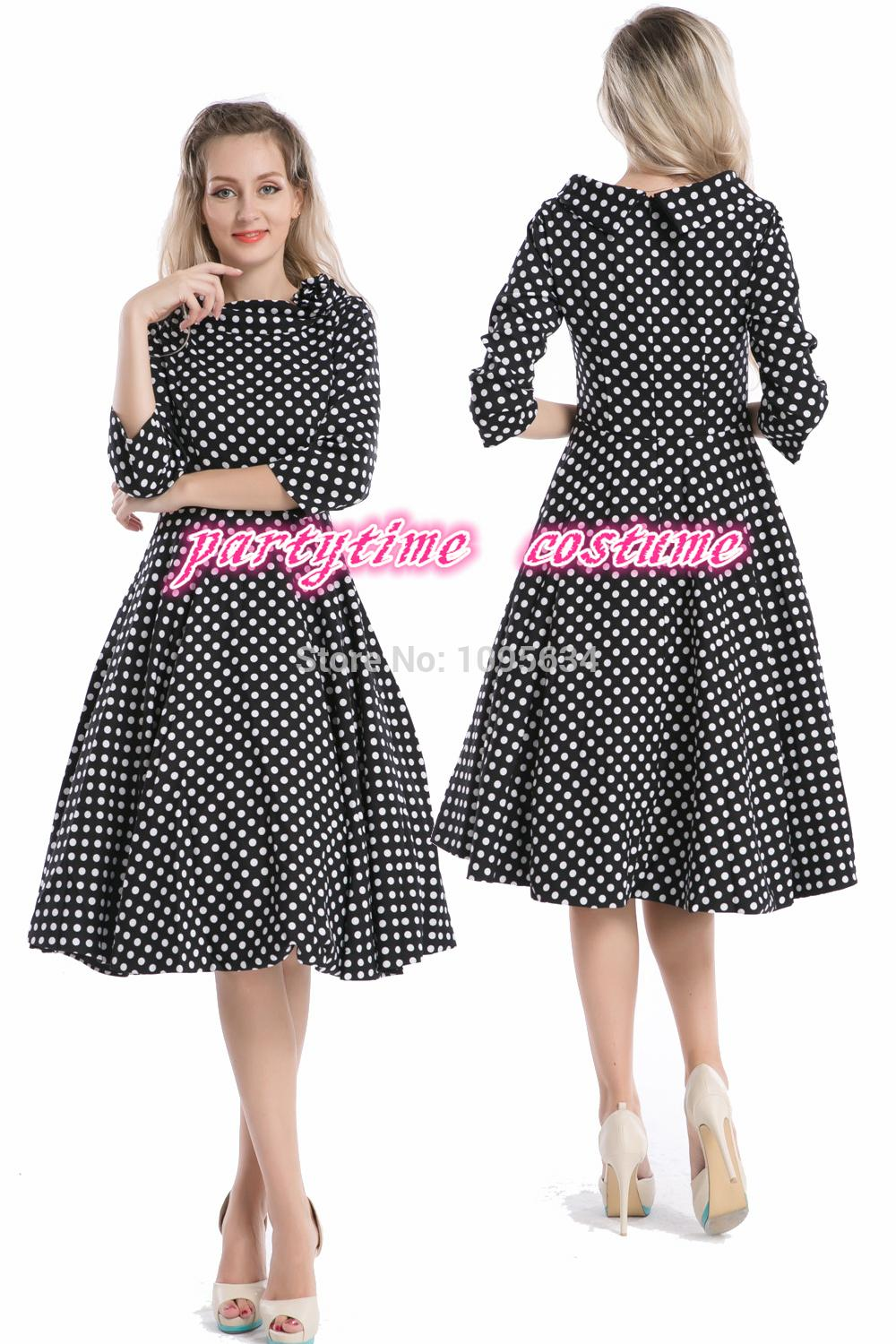ed2c891cfa Get Quotations · free shipping half sleeve 1950s pin up retro polka dot  rockabilly dress plus size S-