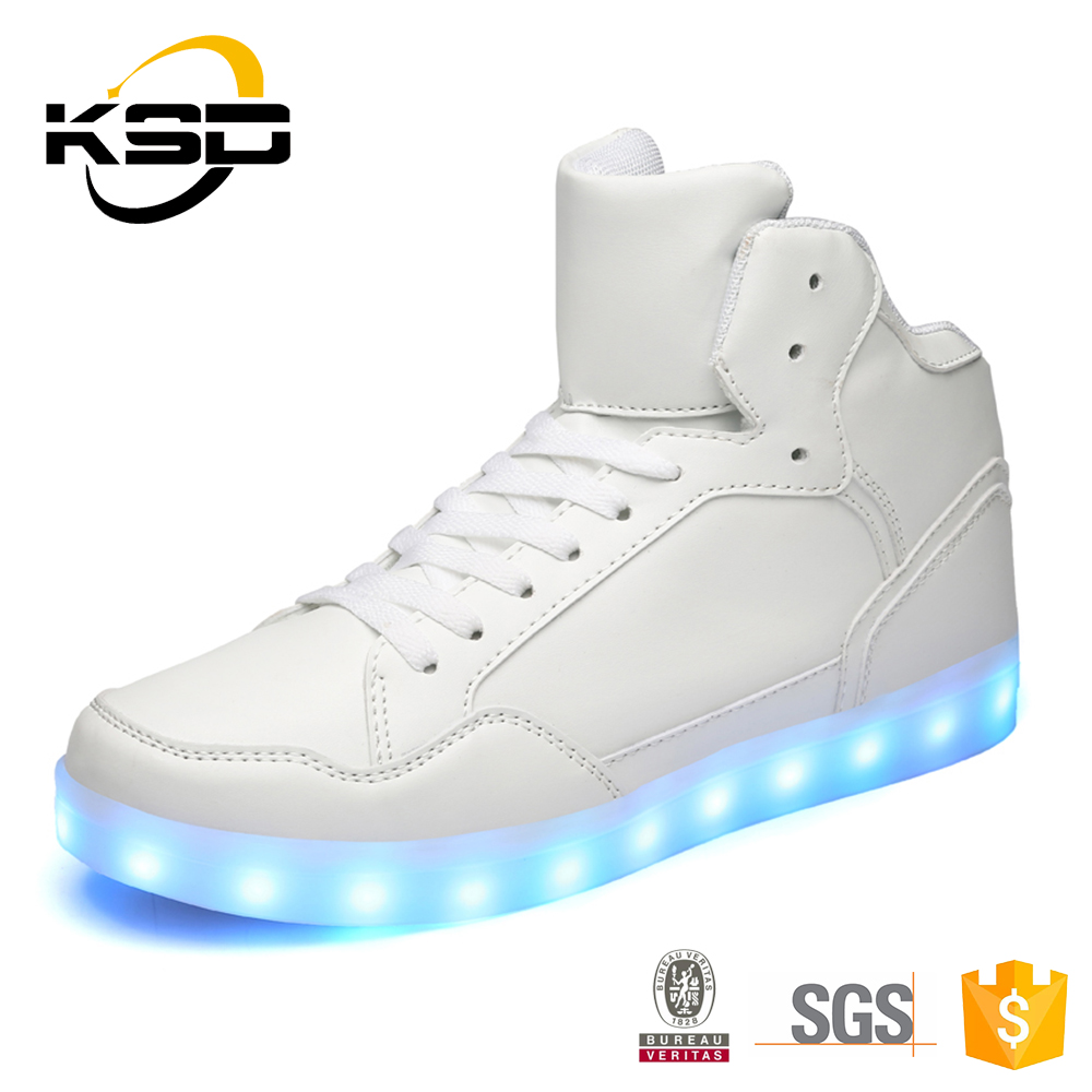 2016 Classic High Neck LED Light Up Men Sport Shoes And Sneakers