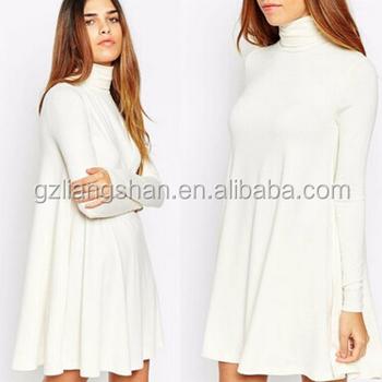 witte jurk met mouwen