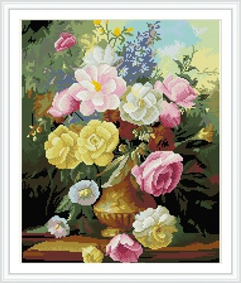 paint boy brand flower canvas art diamond painting for wall art GZ318
