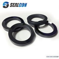 customized shaft seal ring tungsten carbide seal sic silicone ring