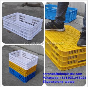 Linhui China Plastic Mesh Stacking Baskets 3 4mm Thickness
