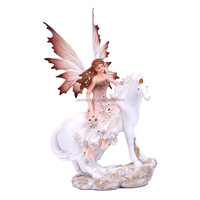 Angel On Horse Figurines gifts crafts Resin Angel Statues