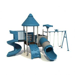 China Sale Free Logo Digital Aluminum Playground Tube Slide Portable Kids Playground