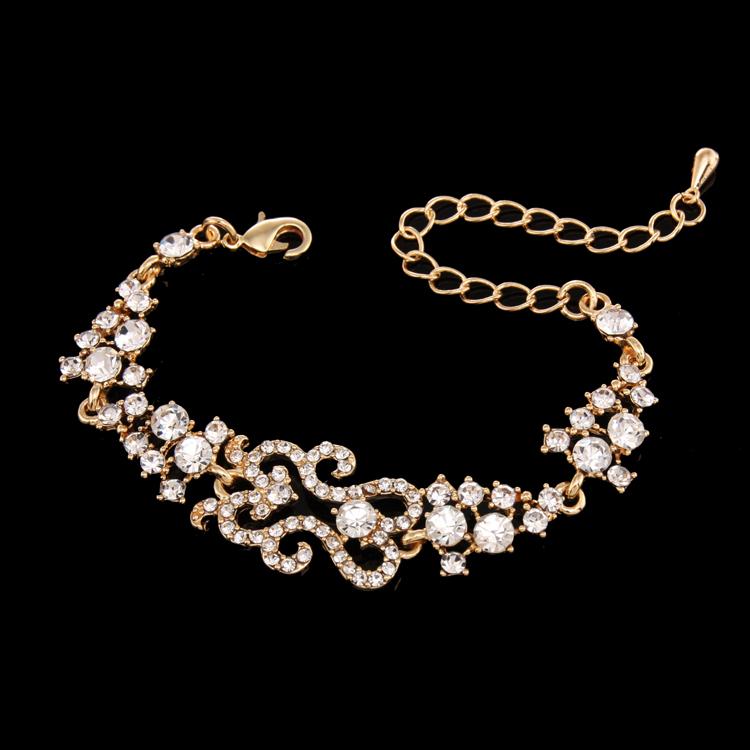 Beautiful Gold Charm Bracelet ladies gold plated bracelet ...