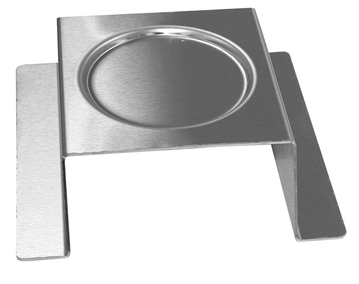 Rosseto SM169 Stainless Steel Brushed Square Burner Stand