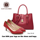Eastleather factory wholesales good quality women Italian shoes and bag set