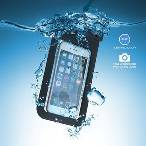Universal Waterproof Case IPX8 CellPhone Dry Bag Pouch with Armband, Built-in Compass Perfect for 4.5-6 inch Mobile Phones
