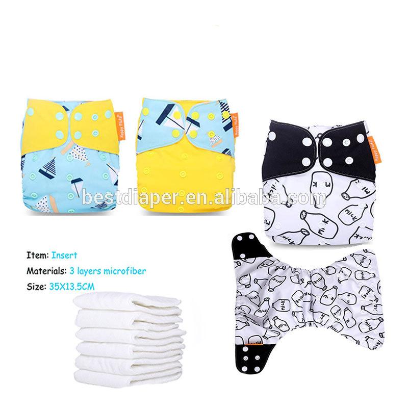 Happyflute baby Cloth Diaper New print reusable pocket cloth diaper wholesaler, Colorful