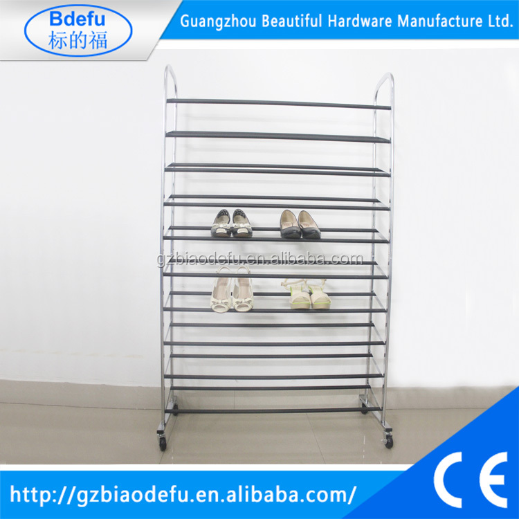 10 Layers of Iron Shoe Rack <strong>Shelves</strong>, High Saving Space Metal Shoe <strong>Shelves</strong> for Supermarket