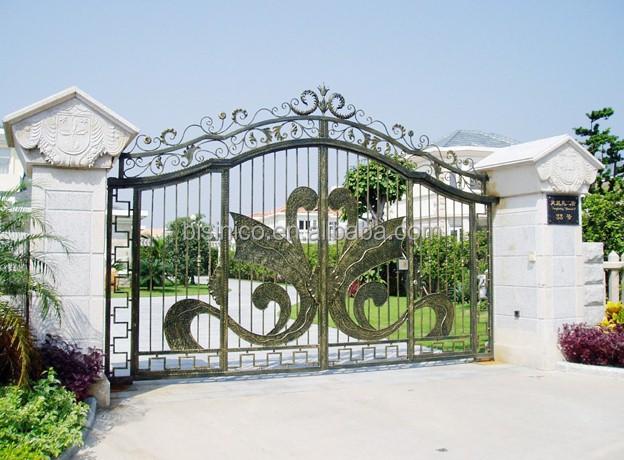Bisini Luxury Iron House Gate,Swing House Main Gate Design,New ...