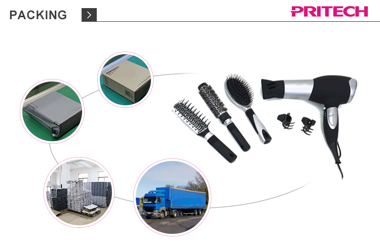 PRITECH China Supply Widely Used Fashion 2 Speeds Hot Air Hair Styler Brush