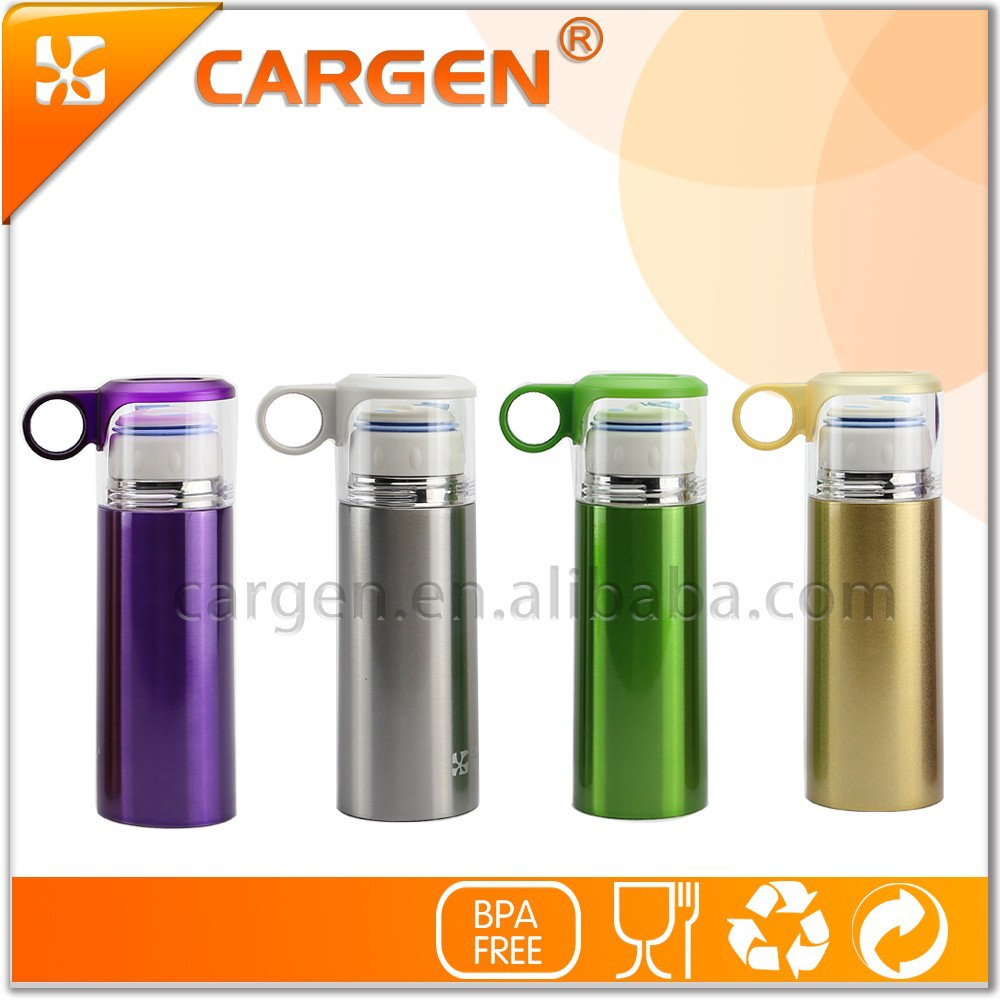 Portable handle 370ml vacuum 304 stainless steel thermos bottle