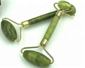 Healthy Face Beauty Body Head Neck Foot natural green jade roller for face massager