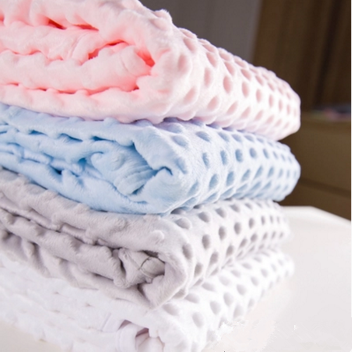 High quality infant baby 100% polyester swaddles newborn minky bubble dot blanket