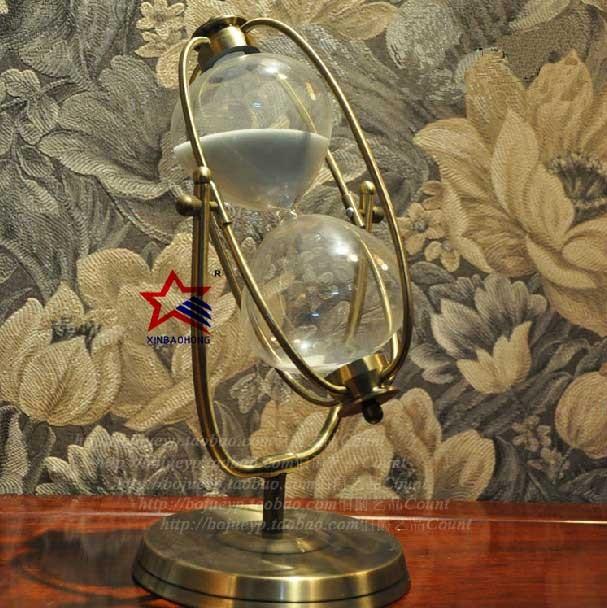 Antieke Woondecoratie Messing Badkamer Zandloper 1 Uur - Buy ...