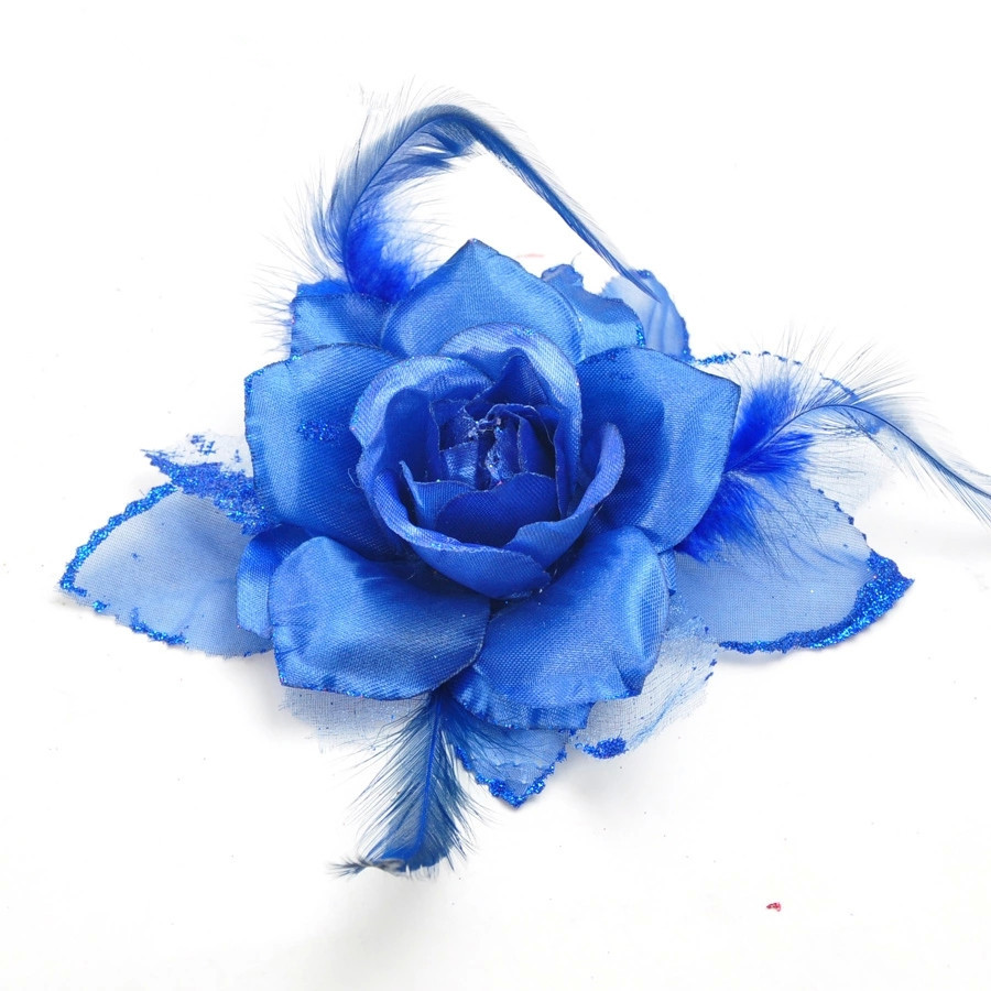 50 Blue Christmas Flower Laser Crafts Party Supplies Indoor Christmas Tree Decoration Ornament 20cm Blue Christmas Flower