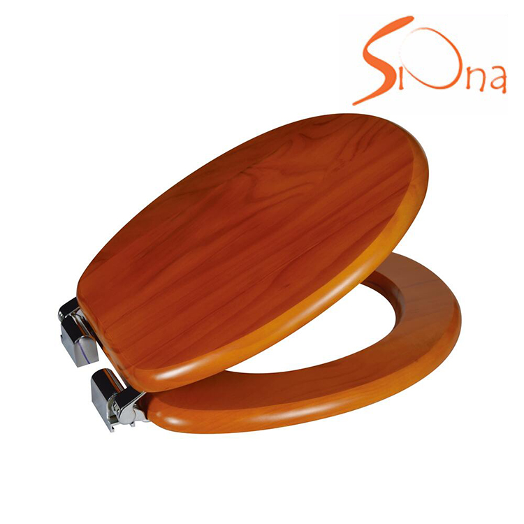 Natural orange colored funky toilet seat