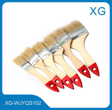 "Hot sale paint brush set 1""/1.5""/2""/2.5""/3""/4""/5""/6"" wooden handle bristles paint brush/paint roller tray set"