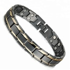 Wollet Hot Product Cool Men Metal Double Magnetic Energy Bracelet