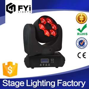 10/17 channel dj stage light mixer 6x15W moving head led gobo light