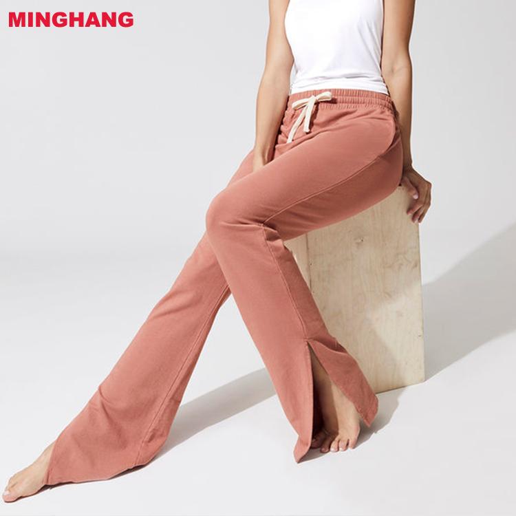 40594f73b0 Hot Sale Women Yoga Pants/100% Cotton Draw String Legging/Blank Loose yoga