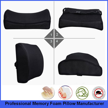 Therapeutic Grade Memory Foam Lumbar Support Cushion For Lower Back Pain Driving Seat