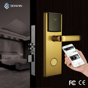 Concise type networked electronic hotel/office/room intelligent lock control system