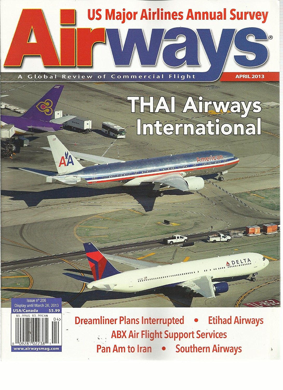 AIRWAYS, APRIL, 2013 ( A GLOBAL REVIEW OF COMMERCIAL FLIGHT ) THAI AIRWAYS INT'L