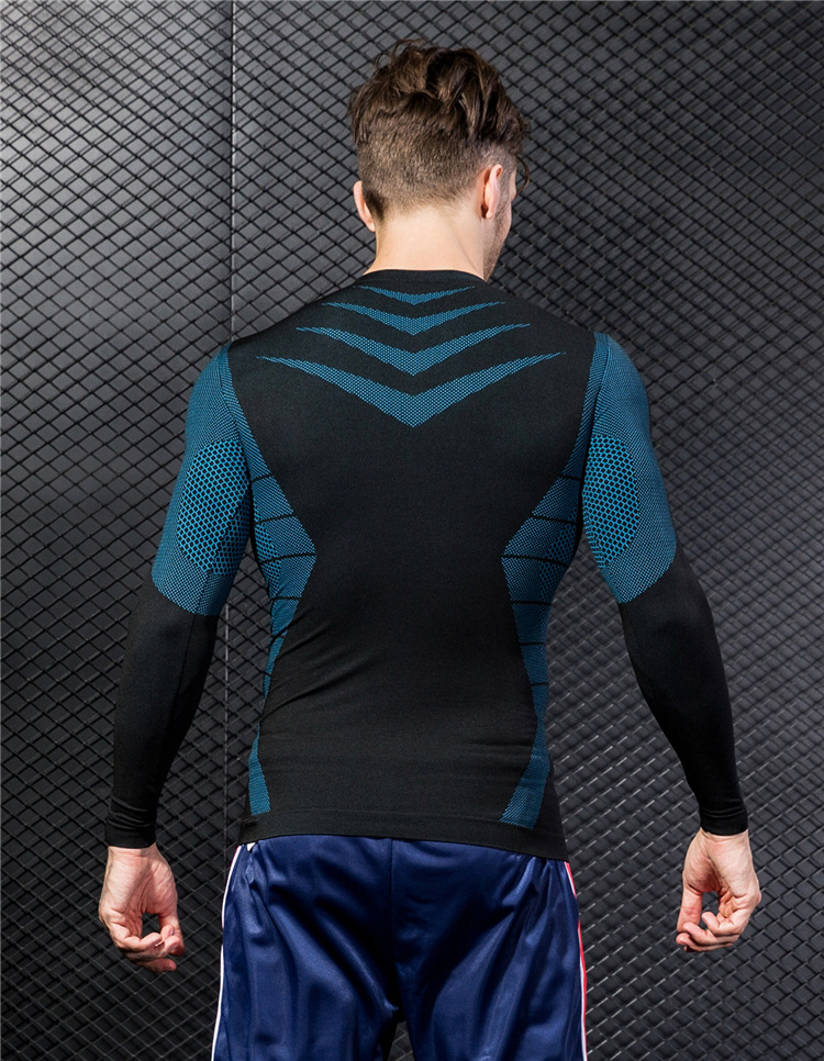 Fitness Sports Quick-drying T-shirt Men's New Long-sleeved 13