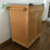Bamboo Kitchen Storage Trolley Cart with Drawer and Cabinet