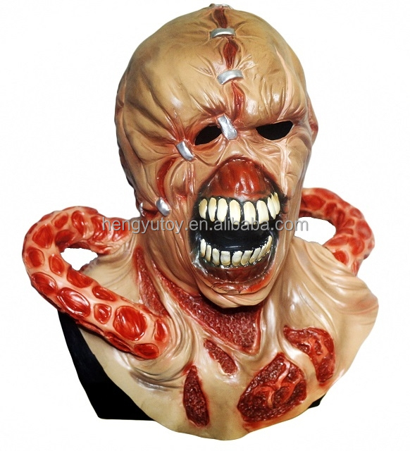 deluxe latex resident evil nemesis halloween mask fancy dress up adult cosplay masquerade mask buy masquerade maskcosplay maskhalloween mask product on