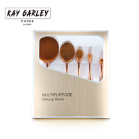 Multipurpose 5pcs Oval Makeup Brush Set Private Label Acceptable OEM ODM Professional Makeup Brush Manufacturer