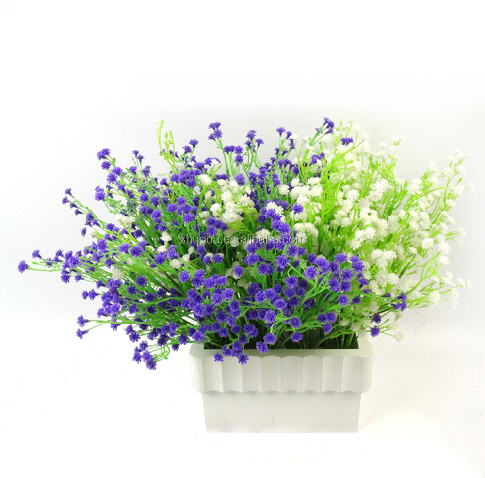 ZERO Hot Sale Plastic Artificial Baby Breath Flowers for Home flower Bouquet